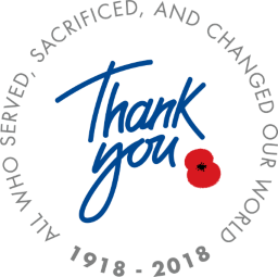 Thank you to all who served, sacrificed, and changed our world: 1918 - 2018